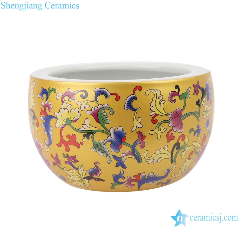 RZSE01-S Chinese gold pattern multi-design ceramic pots