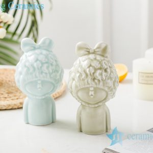 RZSH03 Color glaze shadow blue glaze sculpture dream girl ceramic decoration figurine