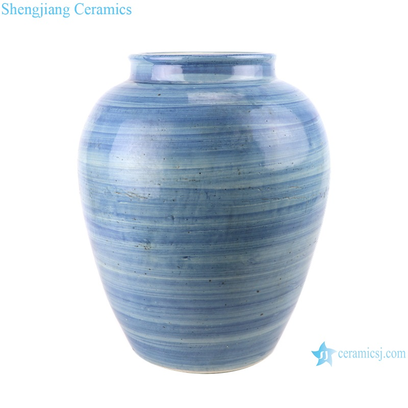 Blue and white striped vases and jars from shengjiang company
