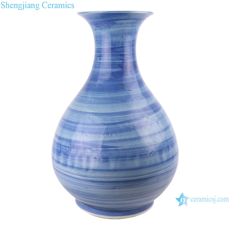 The mysterious blue and white stripes from the East come in handmade stripes in jars and vases