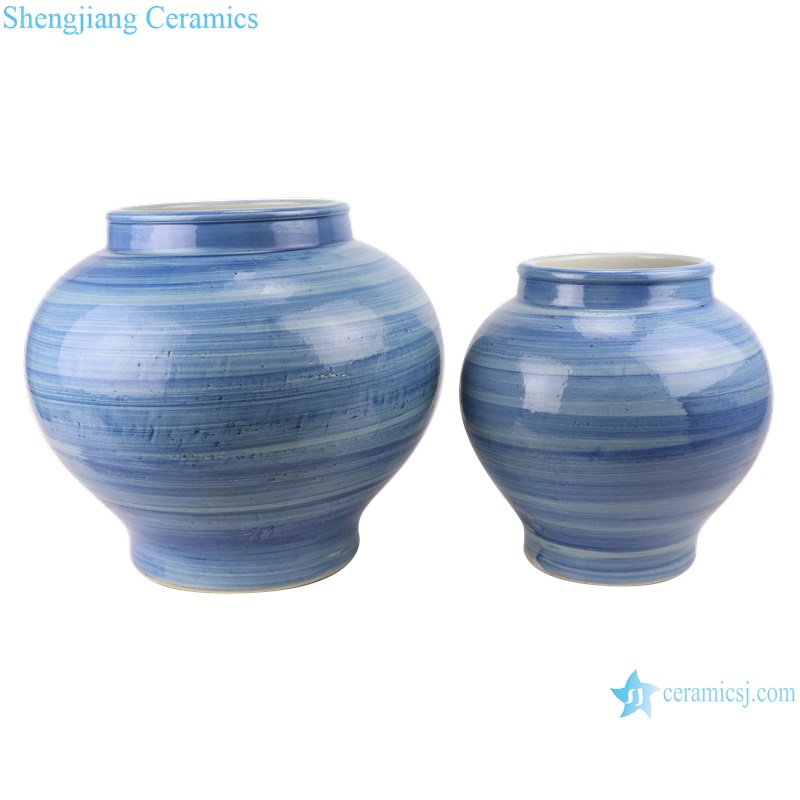Blue and white striped vases and jars from shengjiang