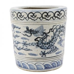 RZFB23-AChinese handmade blue and white old style antique vase Porcelain flower planter pot decorations for home