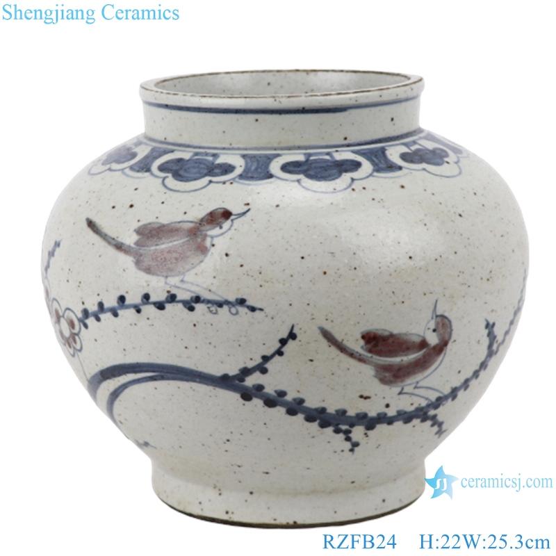 RZFB24 hand painted porcelain home decoration ceramic antique blue and white luxury vase