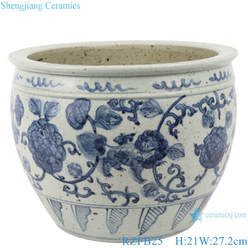 RZFB25hand painted porcelain home decoration ceramic antique blue and white luxury vase