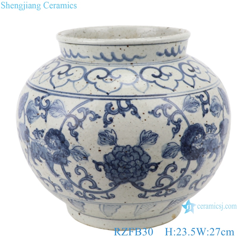 RZFB30 Chinese blue white old style flower pot