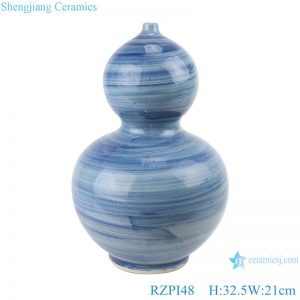 RZPI48 Chinese handmade ceramic blue striped decorative vases