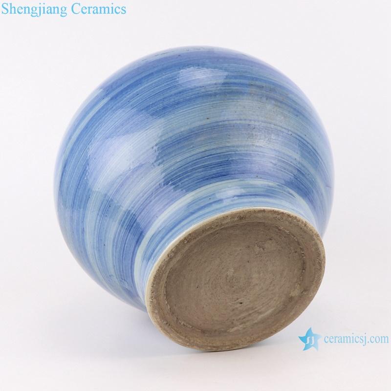 RZPI49-L-S Chinese handmade ceramic blue striped pots set