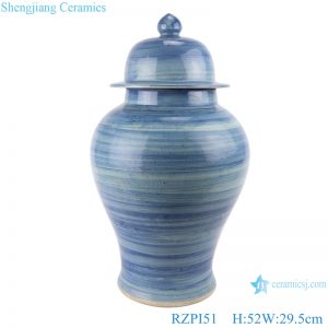 RZPI51 Chinese handmade porcelain blue striped pots ginger jar