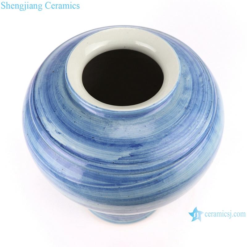 RZPI53 Jingdezhen handmade porcelain blue striped vase decoration
