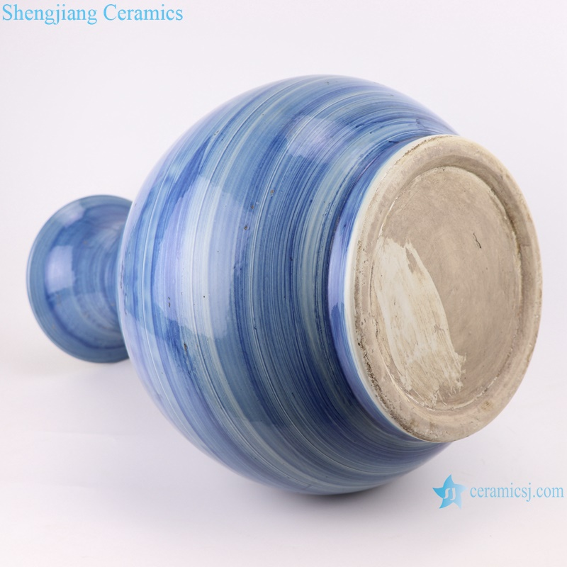 RZPI55 Jingdezhen handmade ceramic blue striped vase decoration