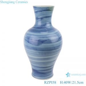 RZPI58 Jingdezhen handmade ceramic blue striped design vases