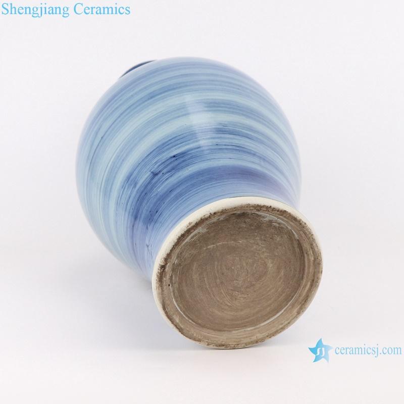 RZPI58 Jingdezhen handmade ceramic blue striped design vases