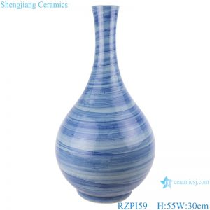 RZPI59 Jingdezhen handmade ceramic blue striped design decorative vases