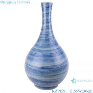RZPI59 Jingdezhen handmade ceramic blue striped design decorative vases