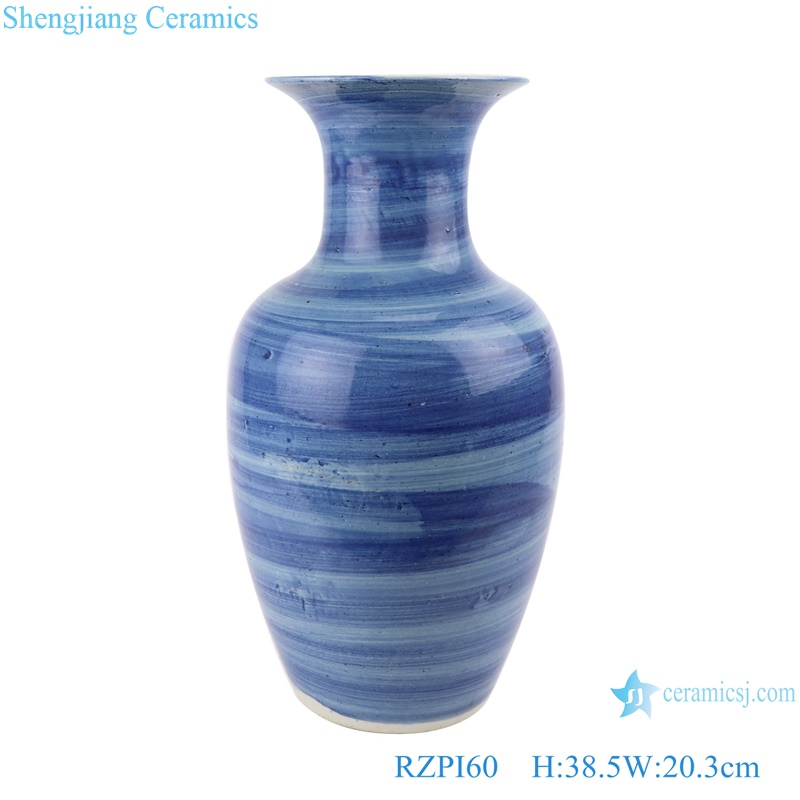 RZPI60 Jingdezhen handmade porcelain blue striped design decorative vases