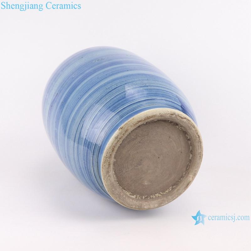 RZPI61 Jingdezhen handmade porcelain blue striped design decorative jar set storage pots
