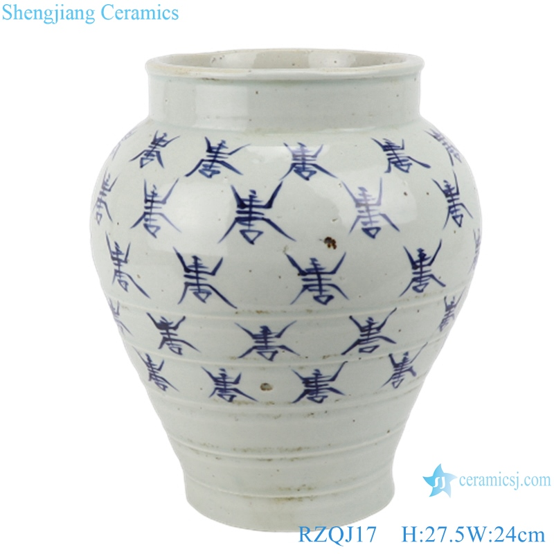 RZQJ17 Chinese hand painted character white color old style flower pot