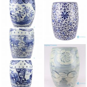 Hot sell products of Jingdezhen Shengjiang Ceramic-blue and white stool