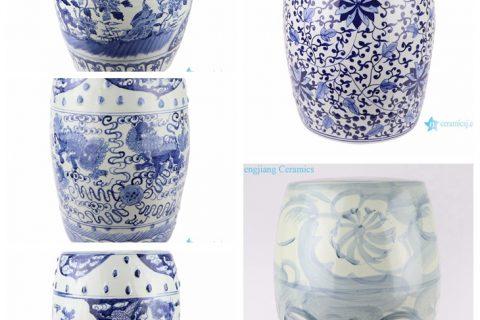 Hot sell products of Jingdezhen Shengjiang Ceramic-blue and white stool