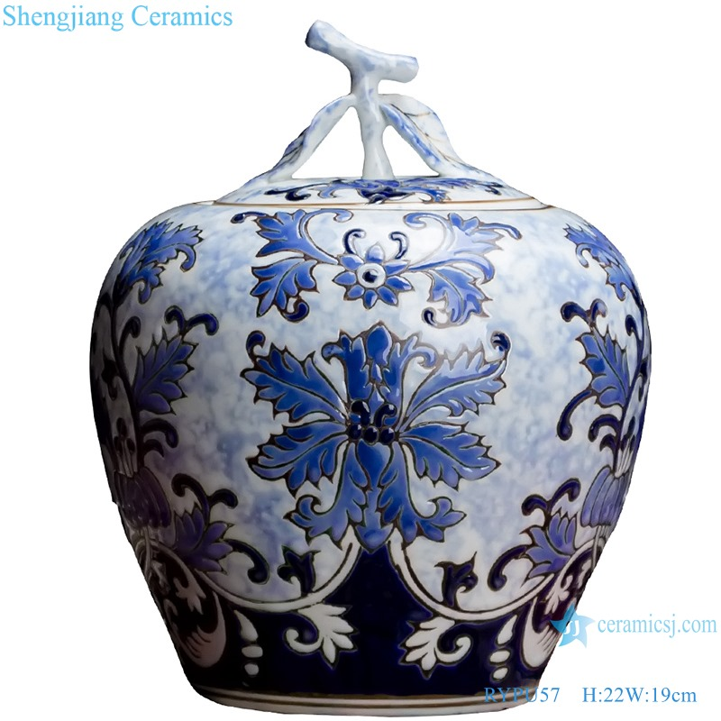 RYPU57 Chinese blue and white ceramic & porcelain jar pot home furniture dining room table sets