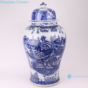 RYLU20-B jingdezhen hand painted chinese porcelain ceramic jar