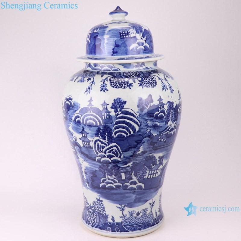 RYLU20-B jingdezhen hand painted chinese porcelain ceramic jar
