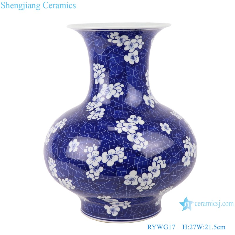 RYWG17 Jingdezhen Porcelain Factory hand-painted ice plum jade Huchun flower pots & planters
