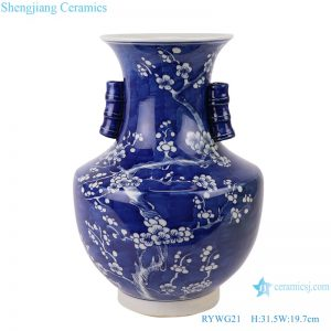 RYWG21_ free shipping Chinese blue and white ceramic & porcelain vases home furniture dining room table sets
