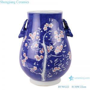 RYWG22 Chinese blue and white Ice plum flower ceramic & porcelain vases for home decor ceramic