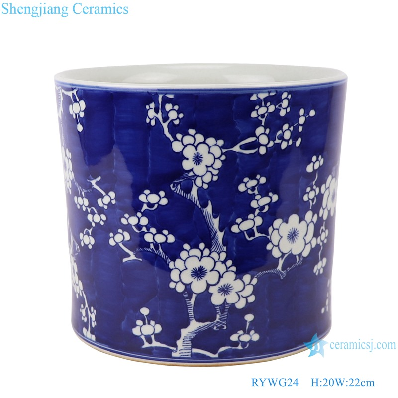RYWG24_ Jingdezhen Porcelain Factory hand-painted blue and white ceramic pen holder
