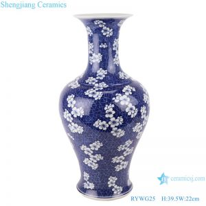 RYWG25 free shipping Chinese blue and white ceramic & porcelain vases home furniture floor vases