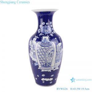 RYWG26 floor vase 44cm Chinese blue and white Ice plum flower ceramic & porcelain vases for home decor ceramic