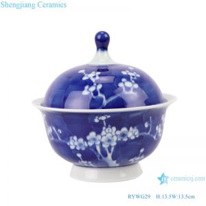 RYWG29 Chinese blue and white ceramic & porcelain dinner ware bowls wit lids