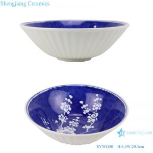 RYWG30 Chinese blue and white Ice plum flower ceramic & porcelain bowls for dinner ware