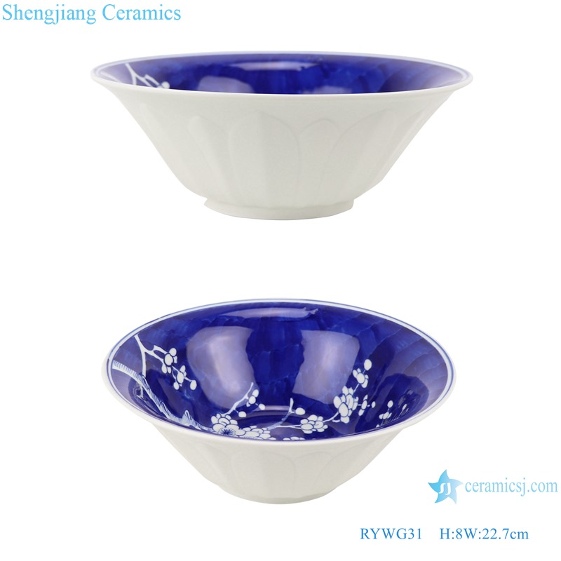 RYWG31 Chinese blue and white Ice plum flower ceramic & porcelain bowls for dinner ware