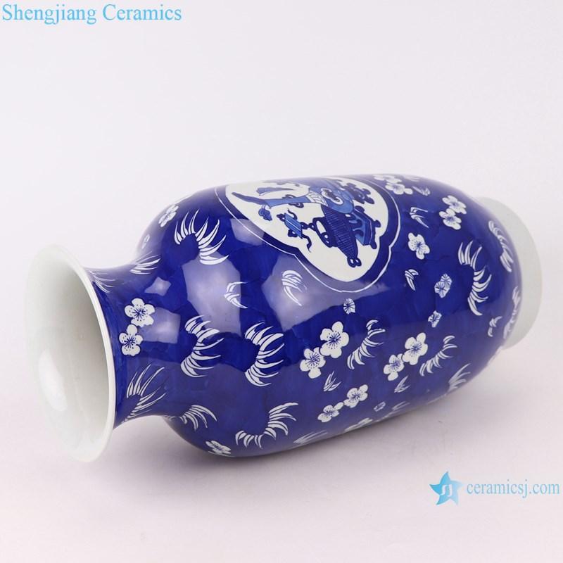 RYWG35 blue and white ice plum design ceramic vase-profile