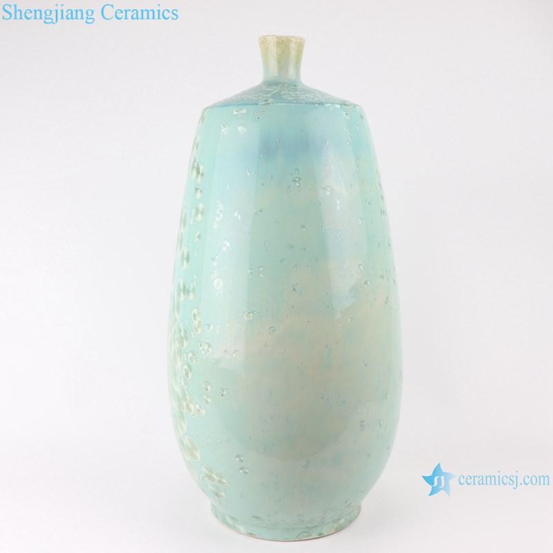 RYYX03 Crystal glaze straight tube ceramic vase with white flowers-profile