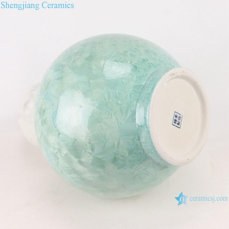RYYX06 Crystal glaze ceramic vase -bottom view