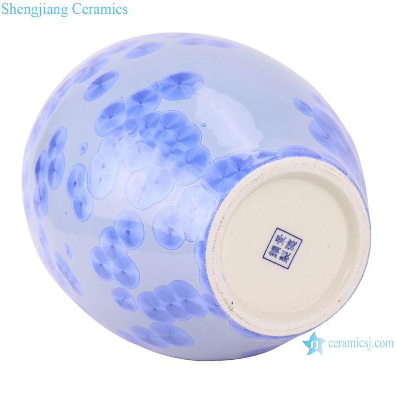 RYYX07-A Handmade crystal glaze ceramic vases blue&green flower pattern decoration