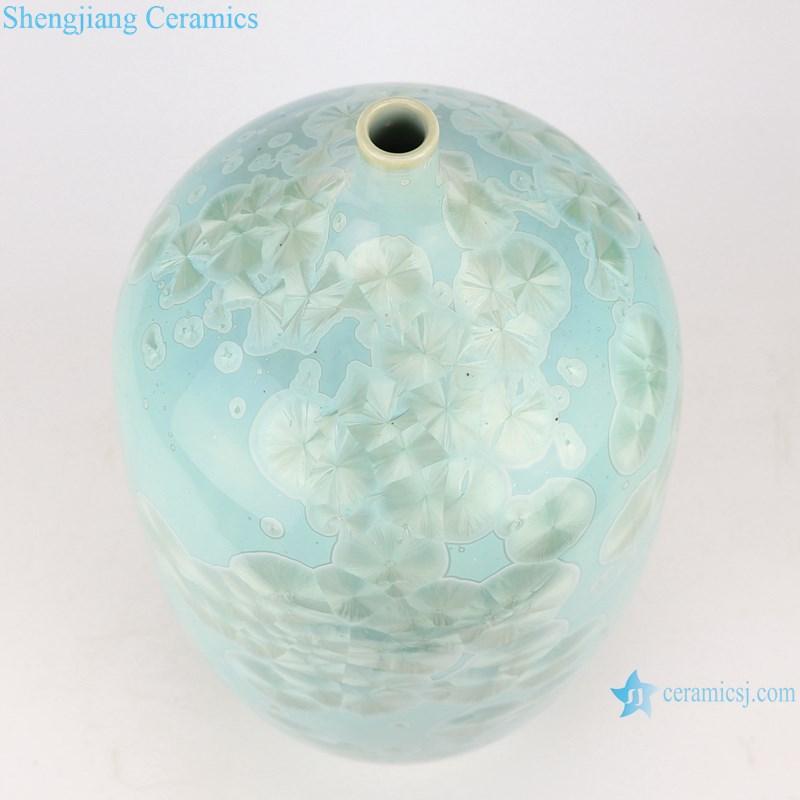 RYYX07-B crystal glaze ceramic vases -top view