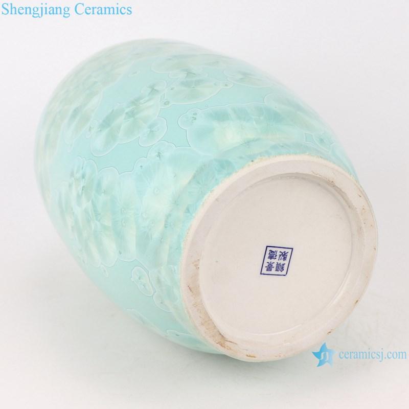 RYYX07-B crystal glaze ceramic vases - bottom view