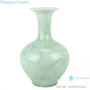 RZCU06 Jingdezhen Crystalline glaze white green blue color decorative vase