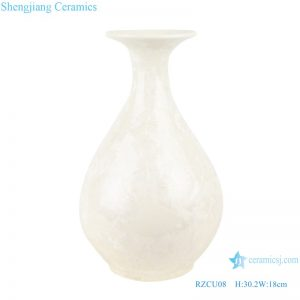 RZCU08 Pure white jade spring vase with crystal glaze decorative vase room decoration