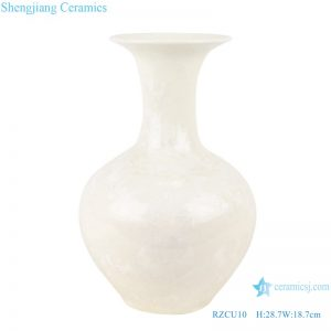RZCU10 Handmade Pure white jade spring vase with crystal glaze decorative vase room decoration