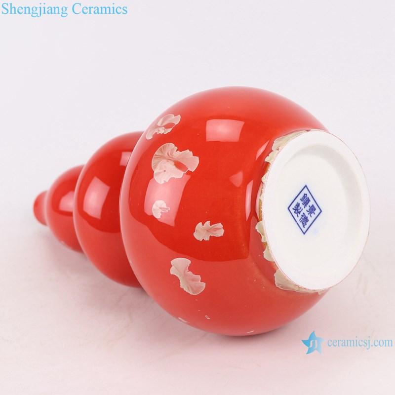 RZCU15 crystallized glaze vase red background table decoration