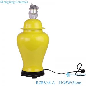 RZRV46-A Yellow color glaze ceramic modern style table lamps