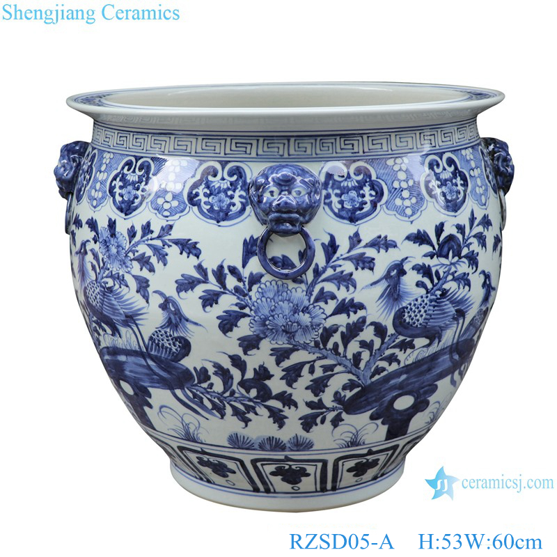 RZSD05-A Jingdezhen handmade blue and white ceramic pot different designs