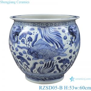 RZSD05-B Jingdezhen handmade blue and white ceramic pot different designs