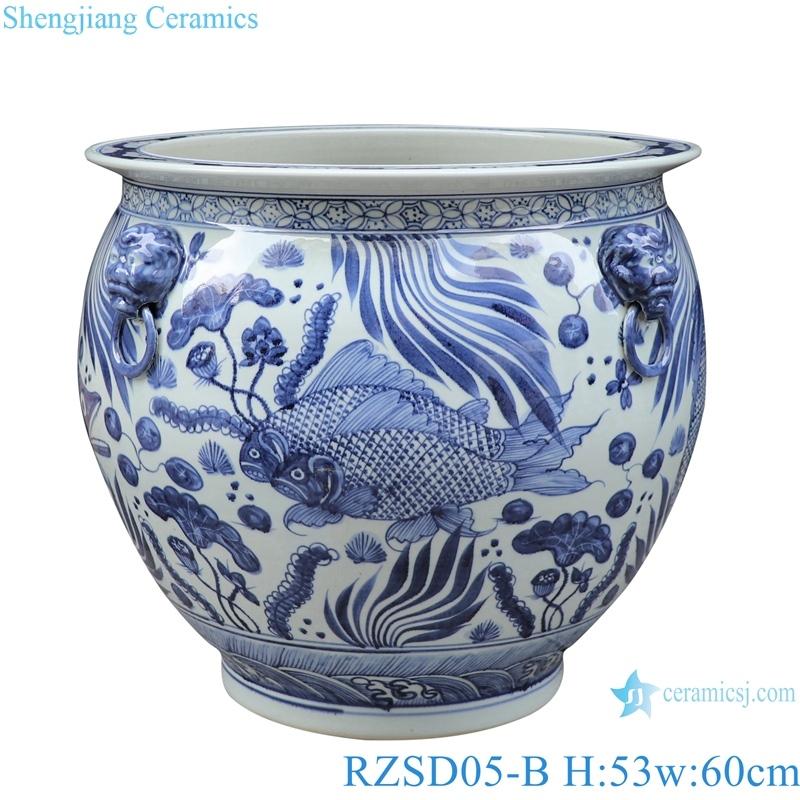 RZSD05-B Jingdezhen handmade blue and white ceramic pot different designs