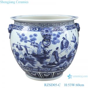 RZSD05-C Jingdezhen handmade blue and white ceramic pot different designs